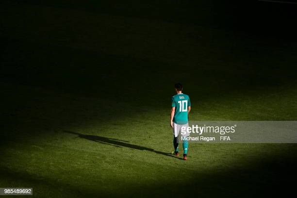 Mesut Oezil of Germany looks dejected during the 2018 FIFA World Cup Russia group F match between Korea Republic and Germany at Kazan Arena on June...