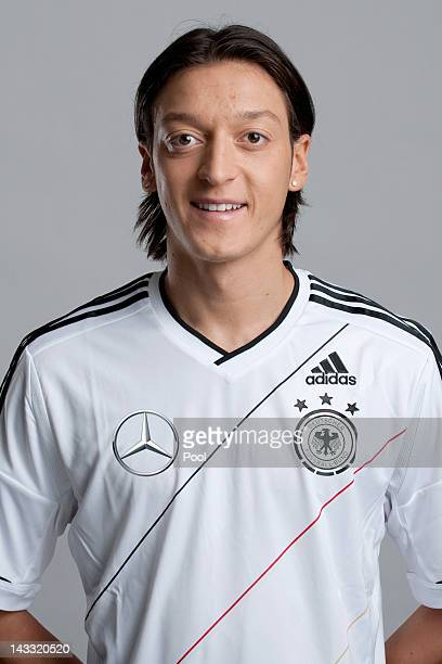 Mesut Oezil of Germany poses during a national team photocall on November 14 2011 in Hamburg Germany