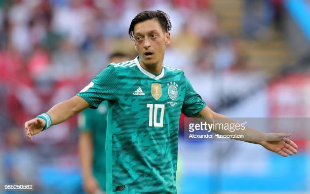 Mesut Oezil of Germany reacts during the 2018 FIFA World Cup Russia group F match between Korea Republic and Germany at Kazan Arena on June 27 2018...
