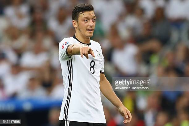 Mesut Oezil of Germany reacts during the UEFA EURO semi final match between Germany and France at Stade Velodrome on July 7 2016 in Marseille France