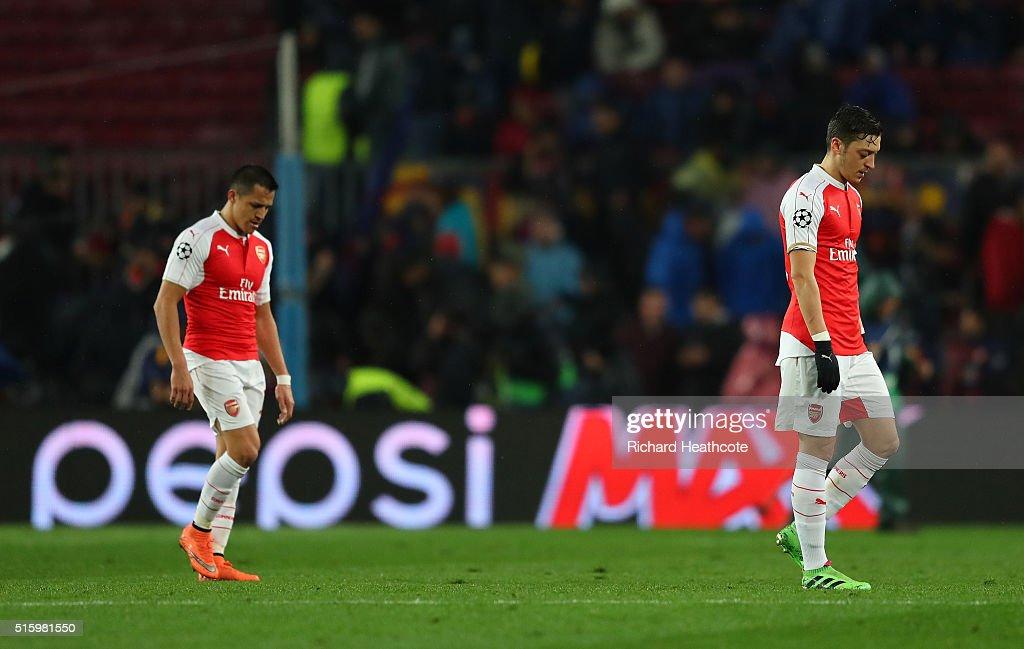 FC Barcelona v Arsenal FC - UEFA Champions League Round of 16: Second Leg : News Photo