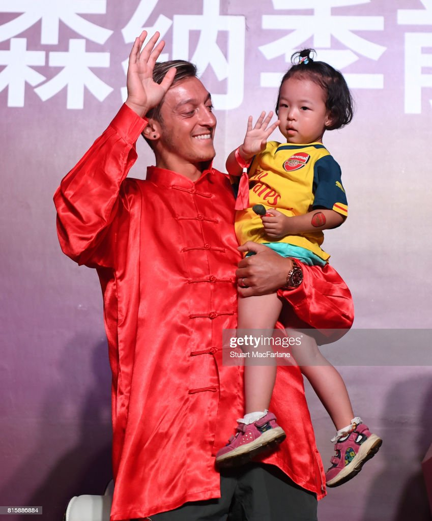 Mesut Ozil attends an Arsenal Fan Party at the Manderain Oriental Hotel on July 17, 2017 in Shanghai, .