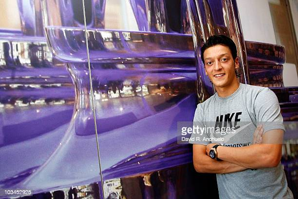 Mesut Ozil attends an interview for Real Madrid TV as new Real Madrid player at Valdebebas on August 18, 2010 in Madrid, Spain.