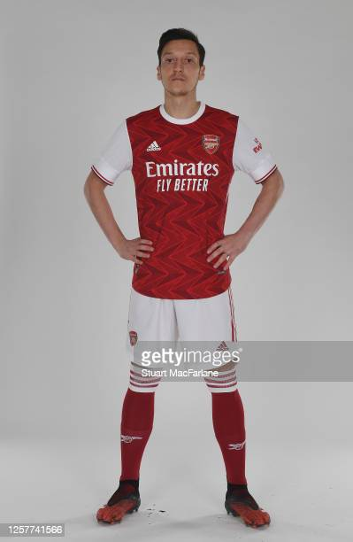 Mesut Ozil of Arsenal at London Colney on March 4, 2020 in St Albans, England.