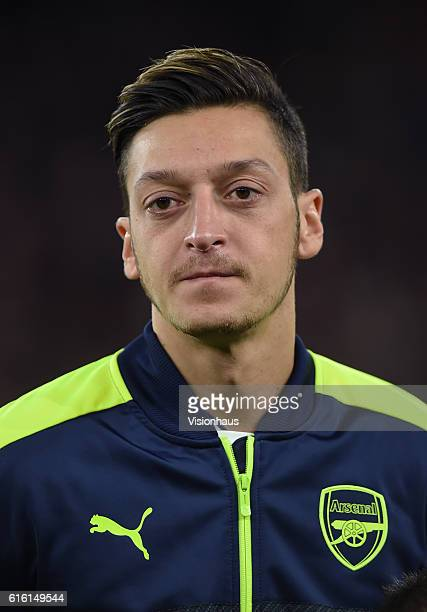 Mesut Ozil of Arsenal before the UEFA Champions League match between Arsenal FC and PFC Ludogorets Razgrad at Emirates Stadium on October 19 2016 in...
