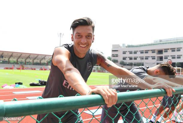 Mesut Ozil of Arsenal during a training session at Singapore American School on July 23 2018 in Singapore