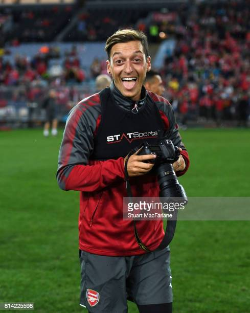 Mesut Ozil of Arsenal during a training session at the ANZ Stadium on July 14 2017 in Sydney New South Wales