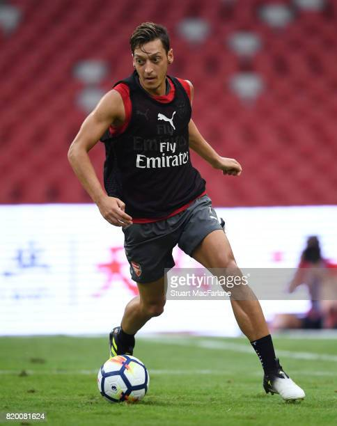 Mesut Ozil of Arsenal during a training session at the Birds Nest stadium on July 21, 2017 in Beijing, China.