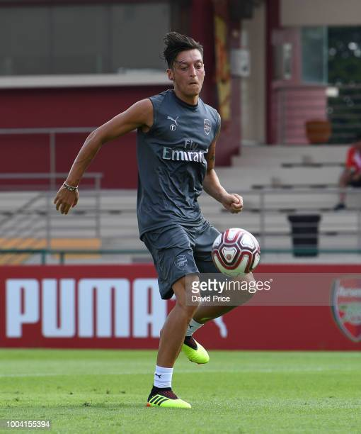 Mesut Ozil of Arsenal during an Arsenal Training Session at Singapore American School on July 23 2018 in Singapore