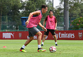 singapore mesut ozil arsenal during an
