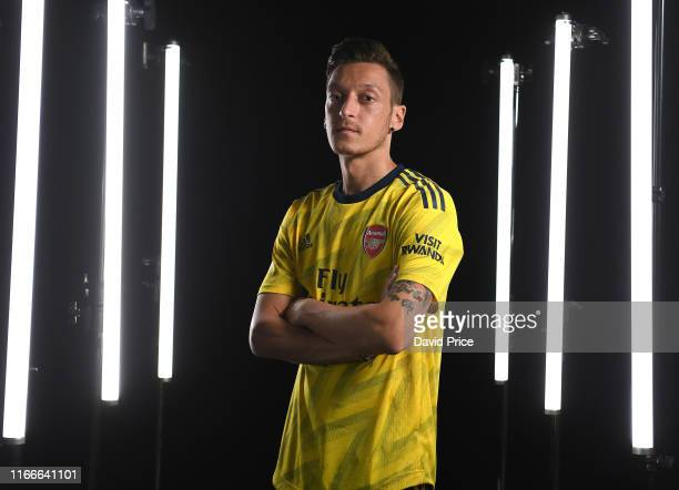 Mesut Ozil of Arsenal during the Arsenal Media Day at London Colney on August 07 2019 in St Albans England