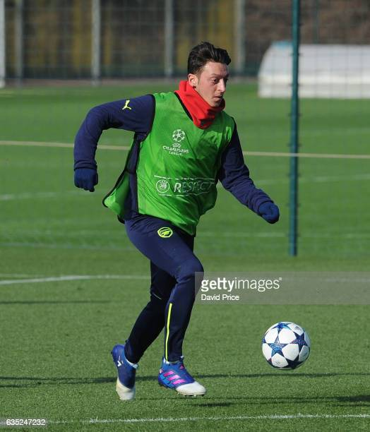 Mesut Ozil of Arsenal during the Arsenal Training Session at London Colney on February 14 2017 in St Albans England