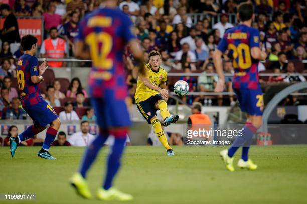 Mesut Ozil of Arsenal during the Club Friendly match between FC Barcelona v Arsenal at the Camp Nou on August 4 2019 in Barcelona Spain