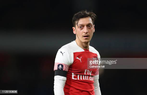Mesut Ozil of Arsenal during the FA Cup Fourth Round match between Arsenal and Manchester United at Emirates Stadium on January 25 2019 in London...