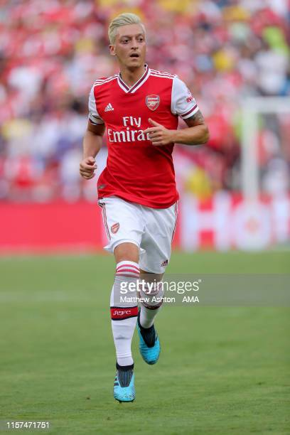 Mesut Ozil of Arsenal during the International Champions Cup fixture between Real Madrid and Arsenal at FedExField on July 23 2019 in Landover...