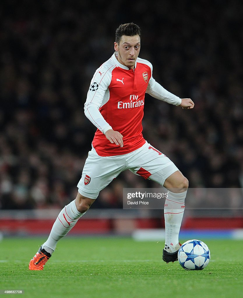 Mesut Ozil of Arsenal during the match between Arsenal and Dinamo Zagreb in the UEFA Champions League on November 24, 2015 in London, United Kingdom.