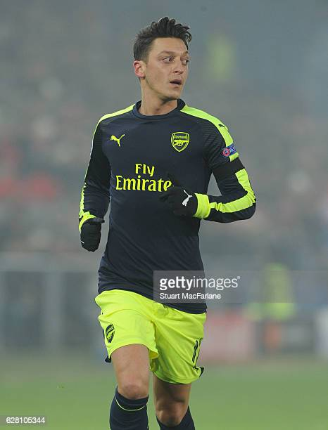 Mesut Ozil of Arsenal during the UEFA Champions League match between FC Basel and Arsenal at St JakobPark on December 6 2016 in Basel BaselStadt