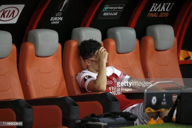 Mesut Ozil of Arsenal during the UEFA Europa League final match between Chelsea FC and Arsenal FC at the Baki Olimpiya Stadionu on May 29 2019 in...
