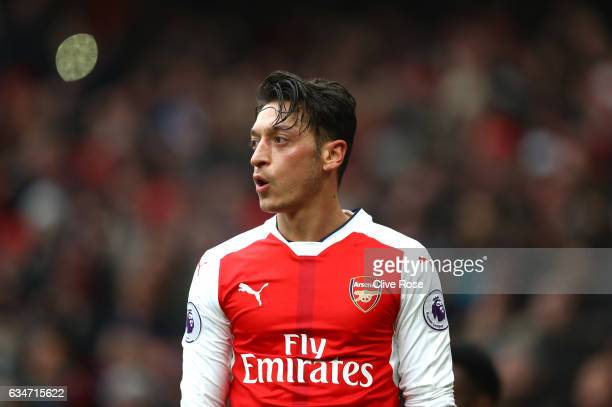 Mesut Ozil of Arsenal in action during the Premier League match between Arsenal and Hull City at Emirates Stadium on February 11 2017 in London...