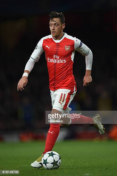 Mesut Ozil of Arsenal in action during the UEFA Champions League match between Arsenal FC and PFC Ludogorets Razgrad at Emirates Stadium on October...