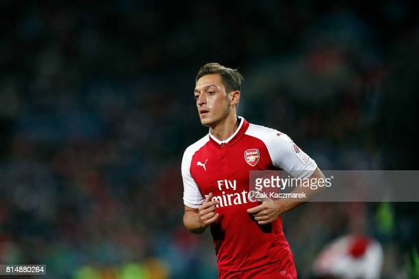 Mesut Ozil of Arsenal runs to take a corner kick during the match between the Western Sydney Wanderers and Arsenal FC at ANZ Stadium on July 15 2017...