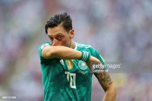 Mesut Ozil of Germany during the 2018 FIFA World Cup Russia group F match between Korea Republic and Germany at Kazan Arena on June 27 2018 in Kazan...