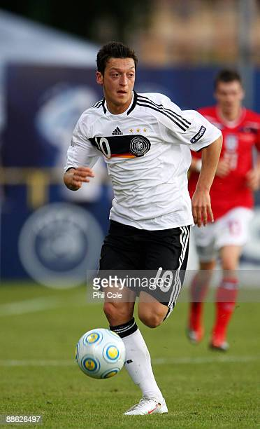 Mesut Ozil of Germany during the UEFA European U21 Championships match between Germany and England at Orjans vall on June 22 2009 in Halmstad Sweden
