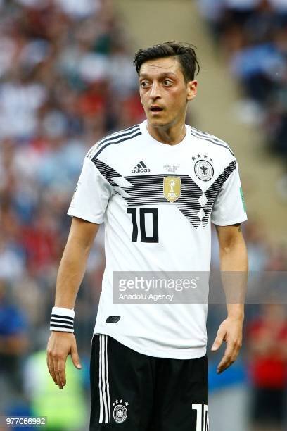 Mesut Ozil of Germany is seen during the 2018 FIFA World Cup Russia Group F match between Germany and Mexico at the Luzhniki Stadium Moscow in Moscow...
