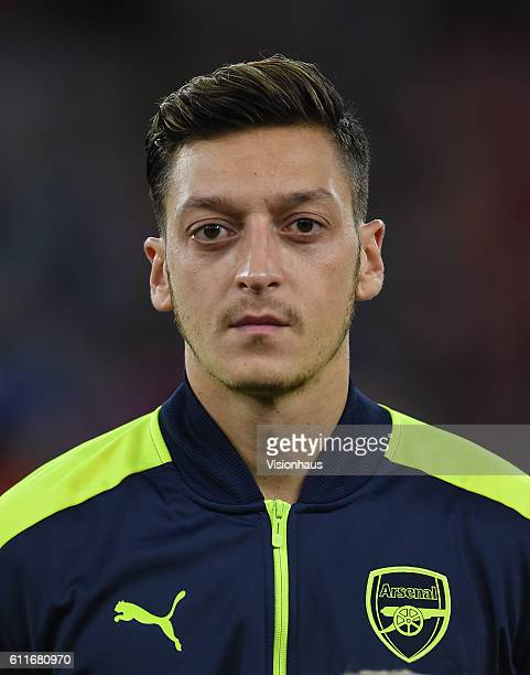 Mesut Özil of Arsenal during the UEFA Champions League match between Arsenal FC and FC Basel 1893 at The Emirates Stadium on September 28 2016 in...