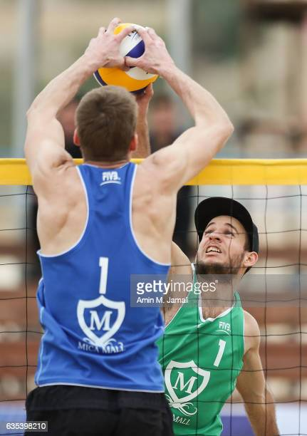 Meszlenyi Tamas of Hungria in action during FIVB Kish Island Open Day 1 on February 15 2017 in Kish Island Iran