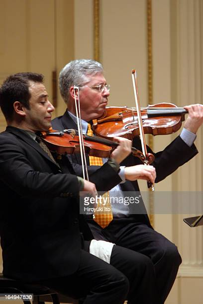 Met Chamber Ensemble performing at Weill Recital Hall on Sunday afternoon March 19 2006This imageNick Eanet left on violin and Michael Ouzounian on...