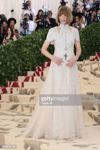 Met Gala Chairperson Anna Wintour attends the Heavenly Bodies Fashion The Catholic Imagination Costume Institute Gala at The Metropolitan Museum of...