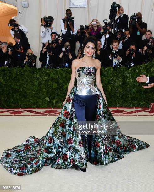 Met Gala Cohost Amal Clooney attends the Heavenly Bodies Fashion The Catholic Imagination Costume Institute Gala at the Metropolitan Museum of Art on...