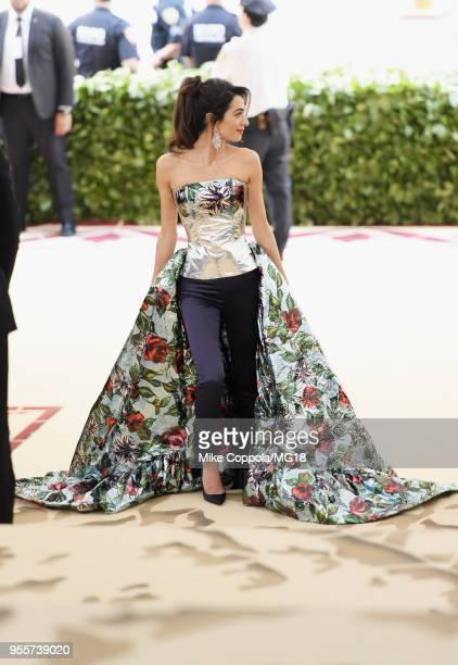 Met Gala Host Amal Clooney attends the Heavenly Bodies: Fashion & The Catholic Imagination Costume Institute Gala at The Metropolitan Museum of Art...