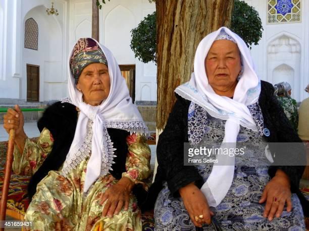 Met these two strong ladies at the mausoleum of Sheikh Bahauddin Naqshbandi near Bukhara, Uzbekistan.