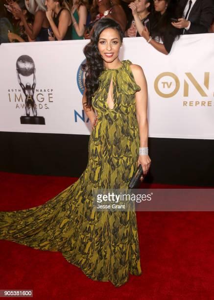 Meta Golding attends the 49th NAACP Image Awards at Pasadena Civic Auditorium on January 15 2018 in Pasadena California