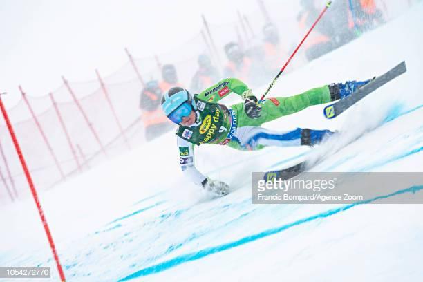 Meta Hrovat of Slovenia competes during the Audi FIS Alpine Ski World Cup Women's Giant Slalom on October 27 2018 in Soelden Austria