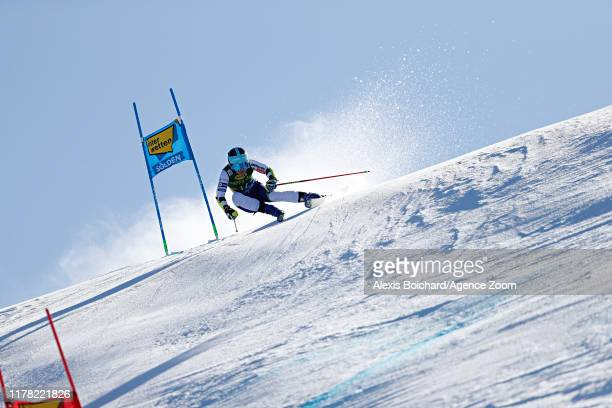 Meta Hrovat of Slovenia in action during the Audi FIS Alpine Ski World Cup Women's Giant Slalom on October 26, 2019 in Soelden, Austria.