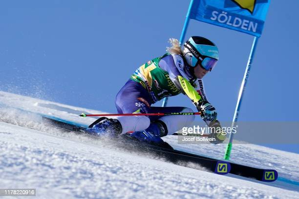 Meta Hrovat of Slovenia rcompetes in the first run of the Alpine Ski World Cup - Women's Giant Slalom on October 26, 2019 in Soelden, Austria.