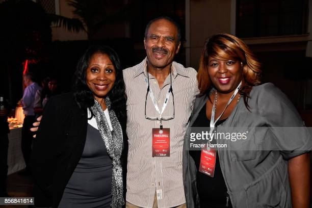 Metacafecom's Raymond Reed Sabrina Taylor and guest attend TheWrap's 8th Annual TheGrill at Montage Beverly Hills on October 2 2017 in Beverly Hills...