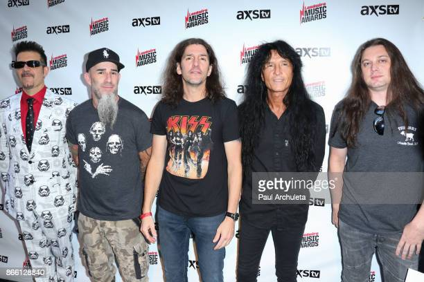 Metal Band Anthrax attends the Loudwire Music Awards at The Novo by Microsoft on October 24 2017 in Los Angeles California