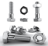 Metal bolts 3D