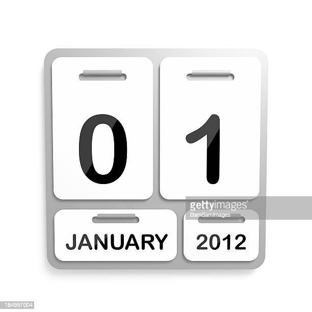 Metal calendário - 01 de janeiro de 2012
