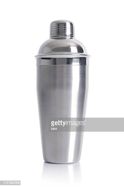 Metal chrome cocktail shaker for parties