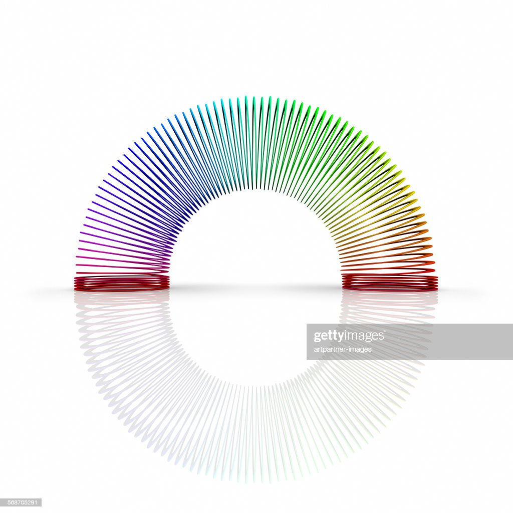 Metal coil or slinky toy : Stock Photo