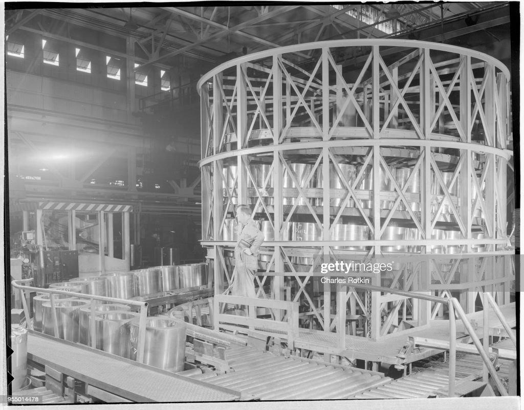 Metal Conveyor Belt in a Brass Mill : News Photo