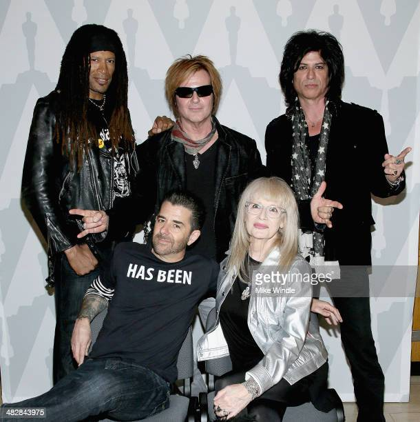 Metal DJ Will Riki Rachtman Rikki Rocket Penelope Spheeris and Nadir D'Priest attend The Academy Of Motion Picture Arts and Sciences' screening of...