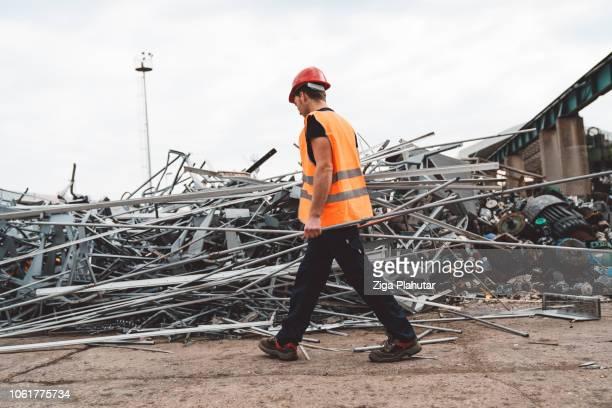 metal everywhere - junkyard stock photos and pictures