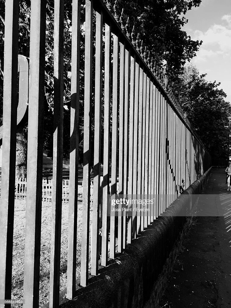 Metal Fence Outdoors : Stock Photo
