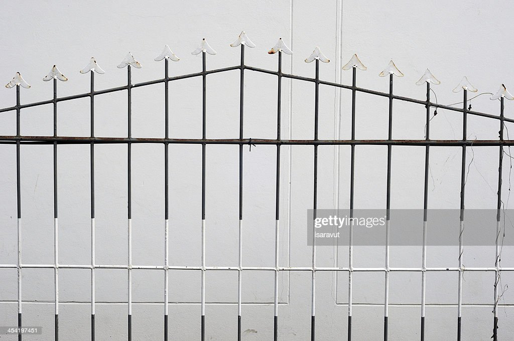 metal fence : Stock Photo